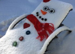 First snowman of the season