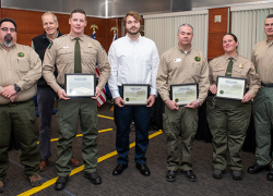 DNR parks employees honored for lifesaving actions