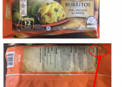 El Monterey breakfast burritos recalled