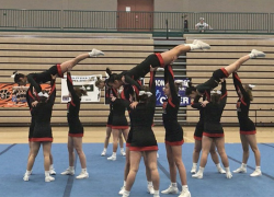 Varsity cheer takes first place at Jenison