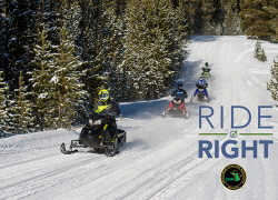 """DNR snowmobile safety campaign encourages people to """"Ride Right"""""""