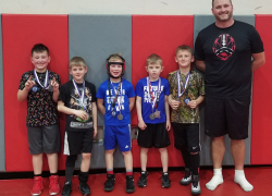 Red Hawk youth grapplers at Wyoming