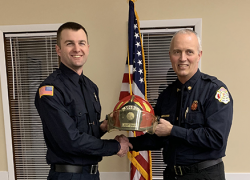 Firefighter promoted to lieutenant