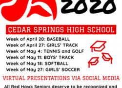 School honors spring sports seniors