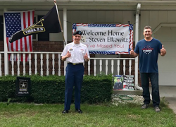 Community welcomes soldier home