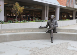 Ford Airport launches social media campaign featuring new presidential statue