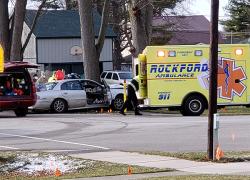 Man injured in Sand Lake crash