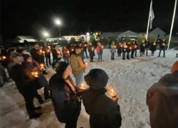 Community members meet to pray