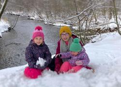 Winter fun in the snow