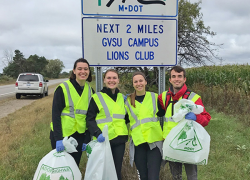 First Adopt-A-Highway litter pickup in Michigan