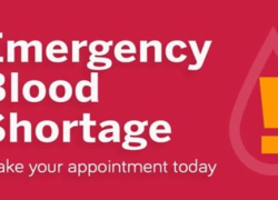 Blood donations desperately needed