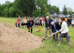 CTA breaks ground on new soccer field