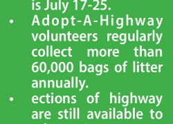 Second Adopt-A-Highway cleanup coming Saturday