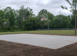 New basketball court at Riggle Park
