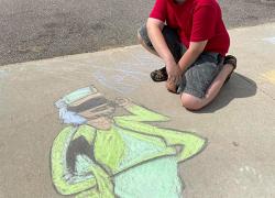 Sidewalk Chalk event is a hit